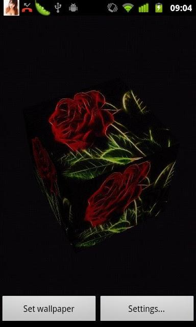 3D Rose live wallpaper Screenshot 1 384x640