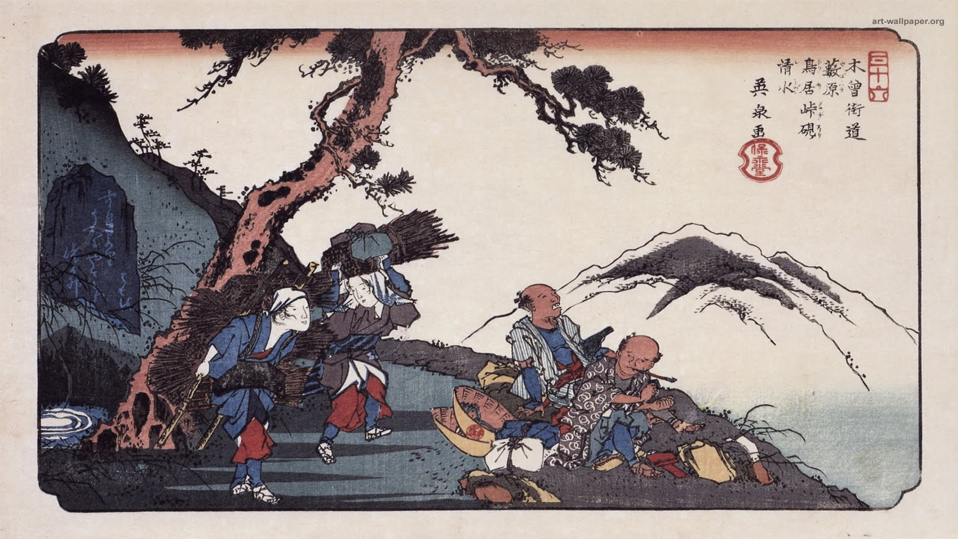 49+] Japanese Woodblock Wallpaper on