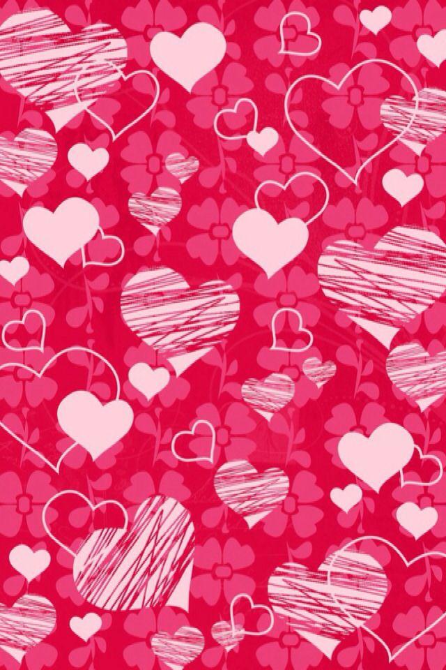 iPhone Wallpaper Valentines Day   Hearts tjn Valentines 640x960