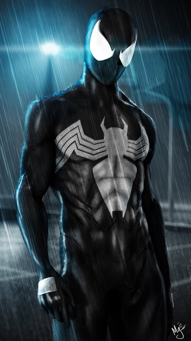 Black suit spiderman wallpaper wallpapersafari - Black and white spiderman wallpaper ...