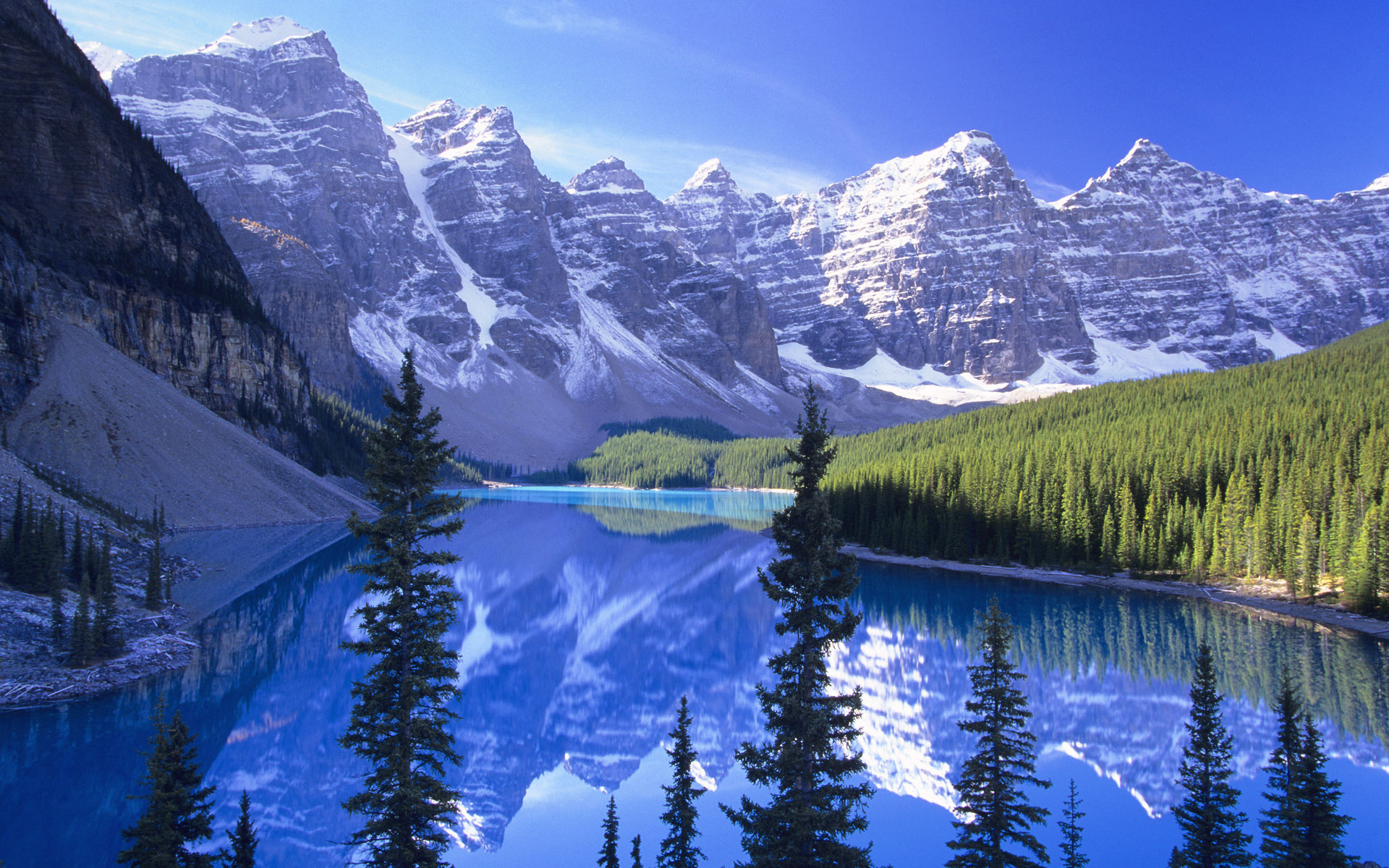 Moraine Lake Banff National Park Alberta   Wallpaper 366 1920x1200