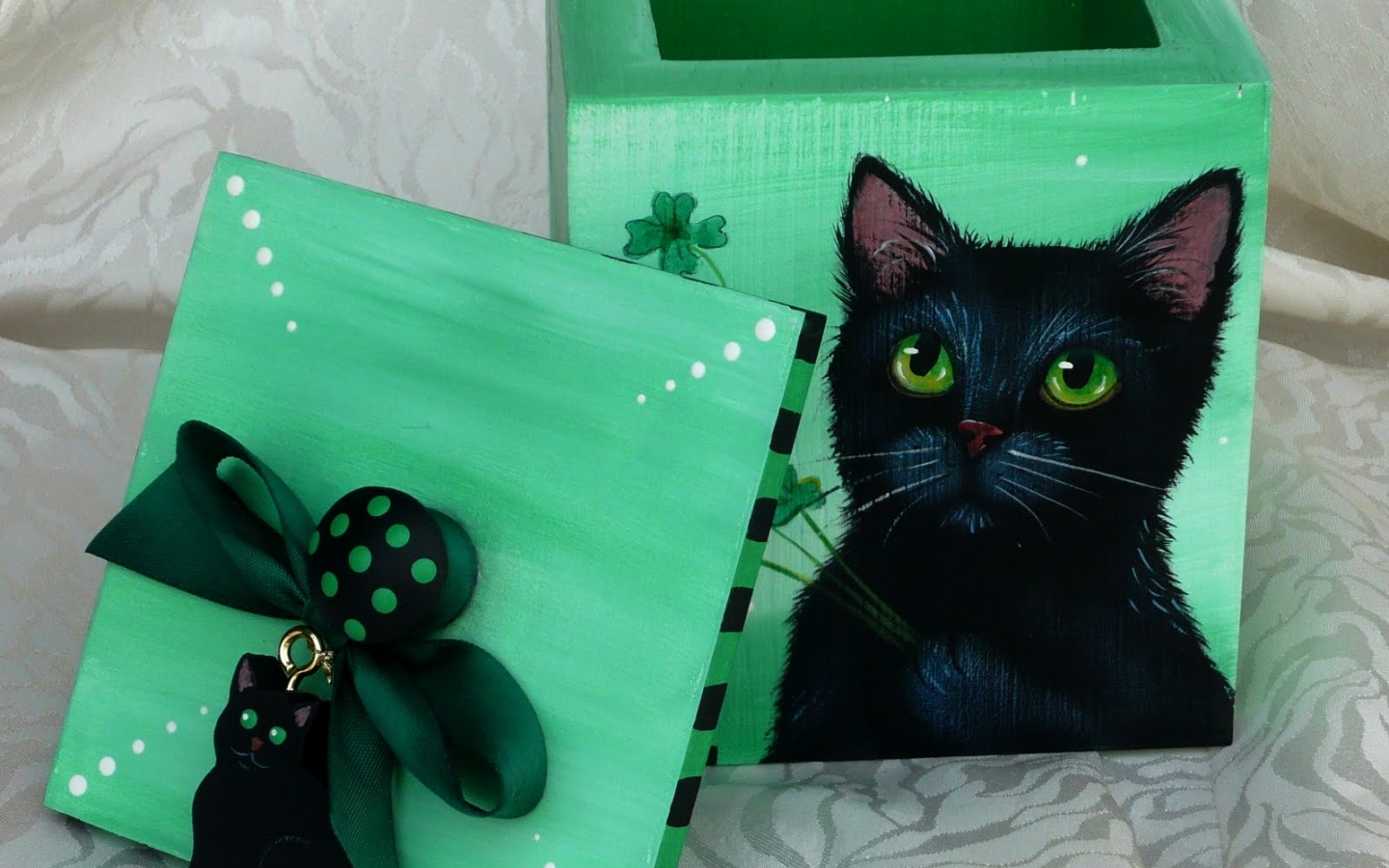 download st patrick s cat day black st patrick day holiday 1440x900