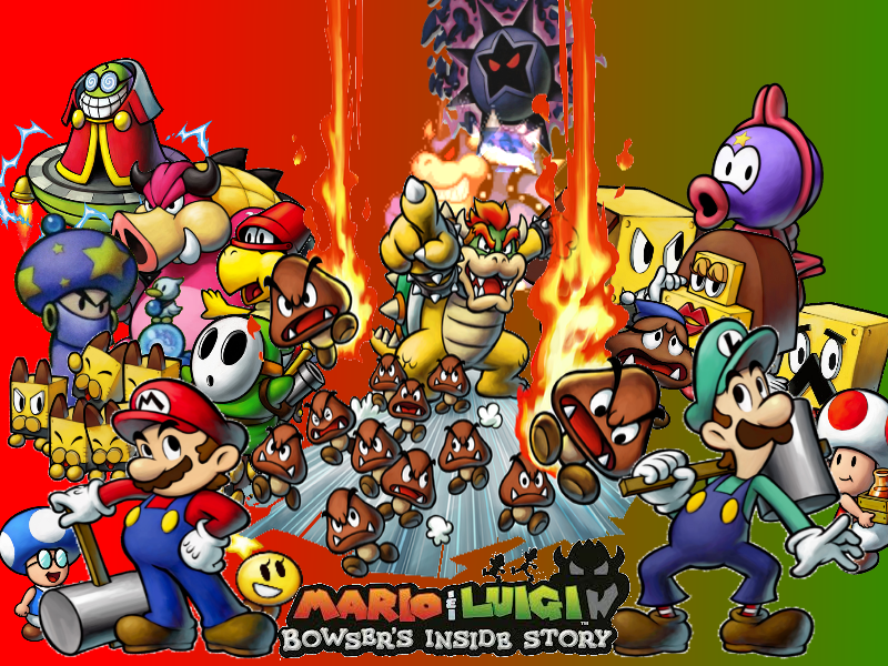 Free Download Wallpaper Mario And Luigi Bowsers Inside Story