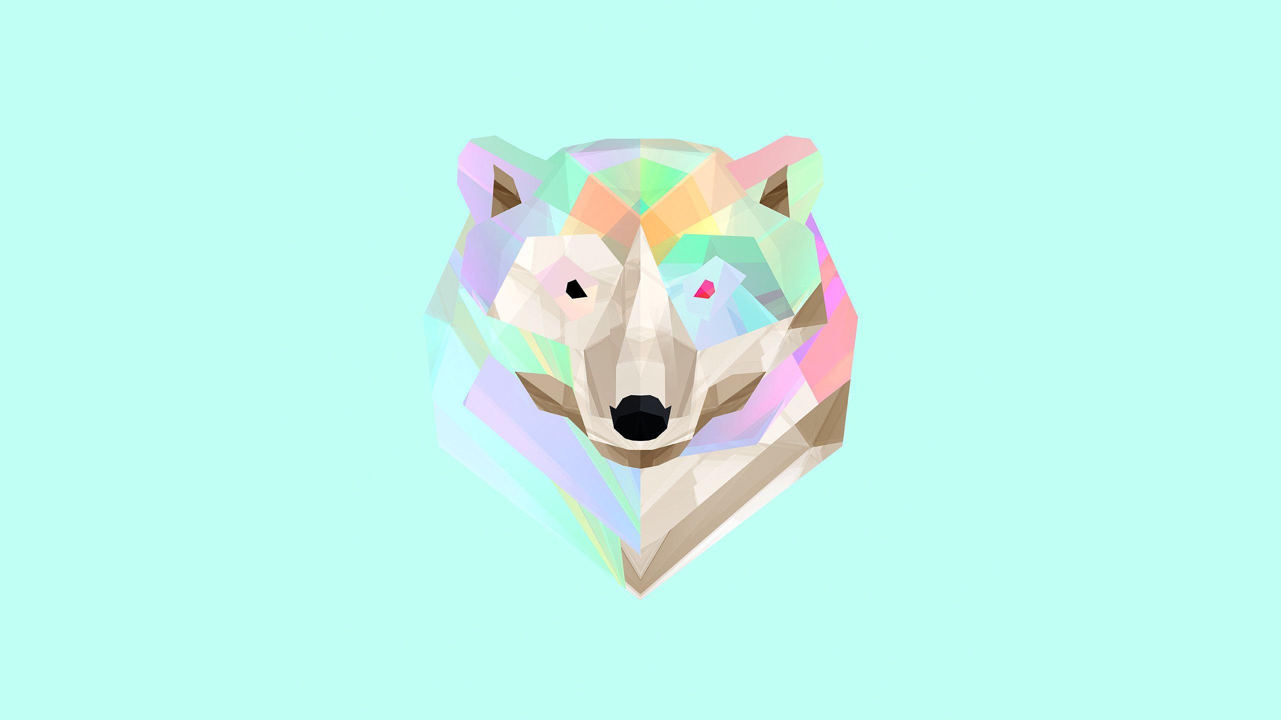 Low Poly Bear Destkop BackgroundsDestkop Backgrounds 2560x1440