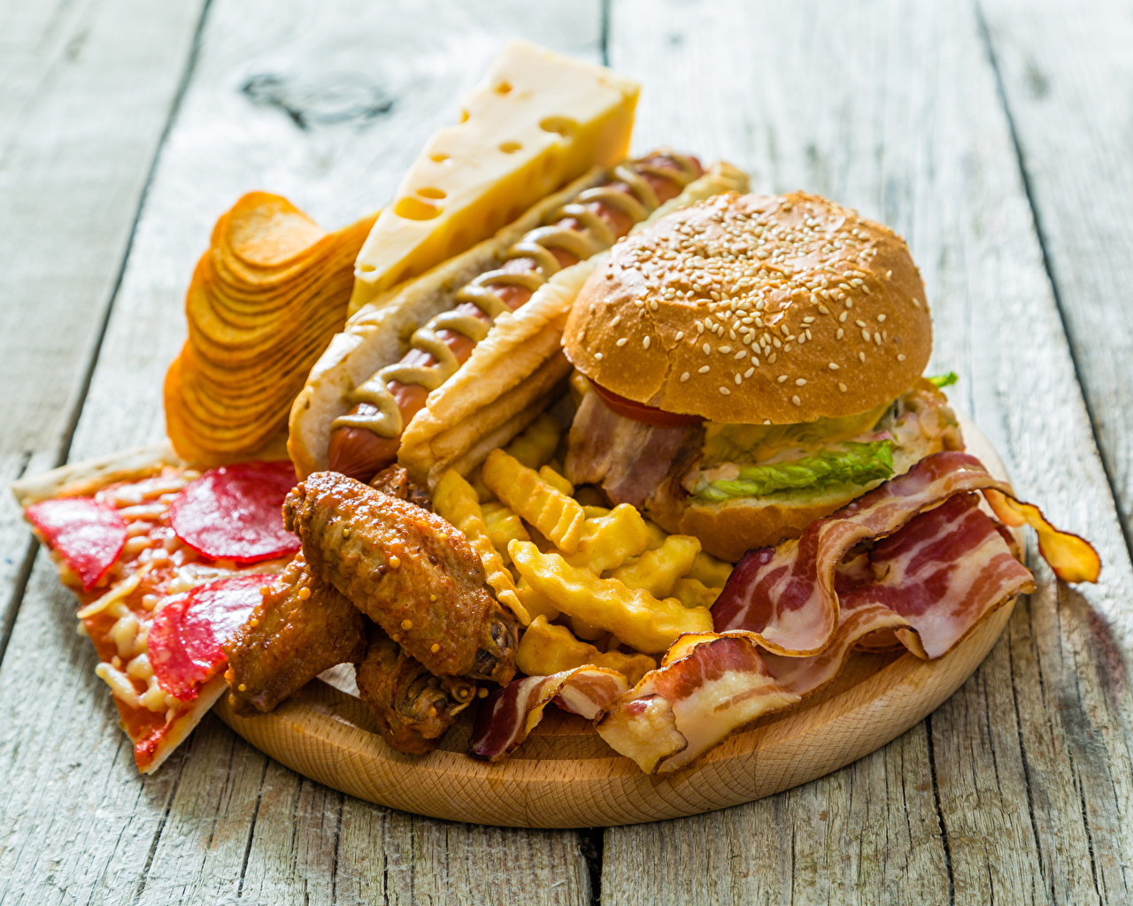 Image Chips Hot dog Hamburger finger chips Cheese Fast 1280x1024 1280x1024
