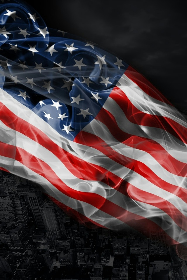 USA Flag iPhone 4 Wallpaper and iPhone 4S Wallpaper 640x960