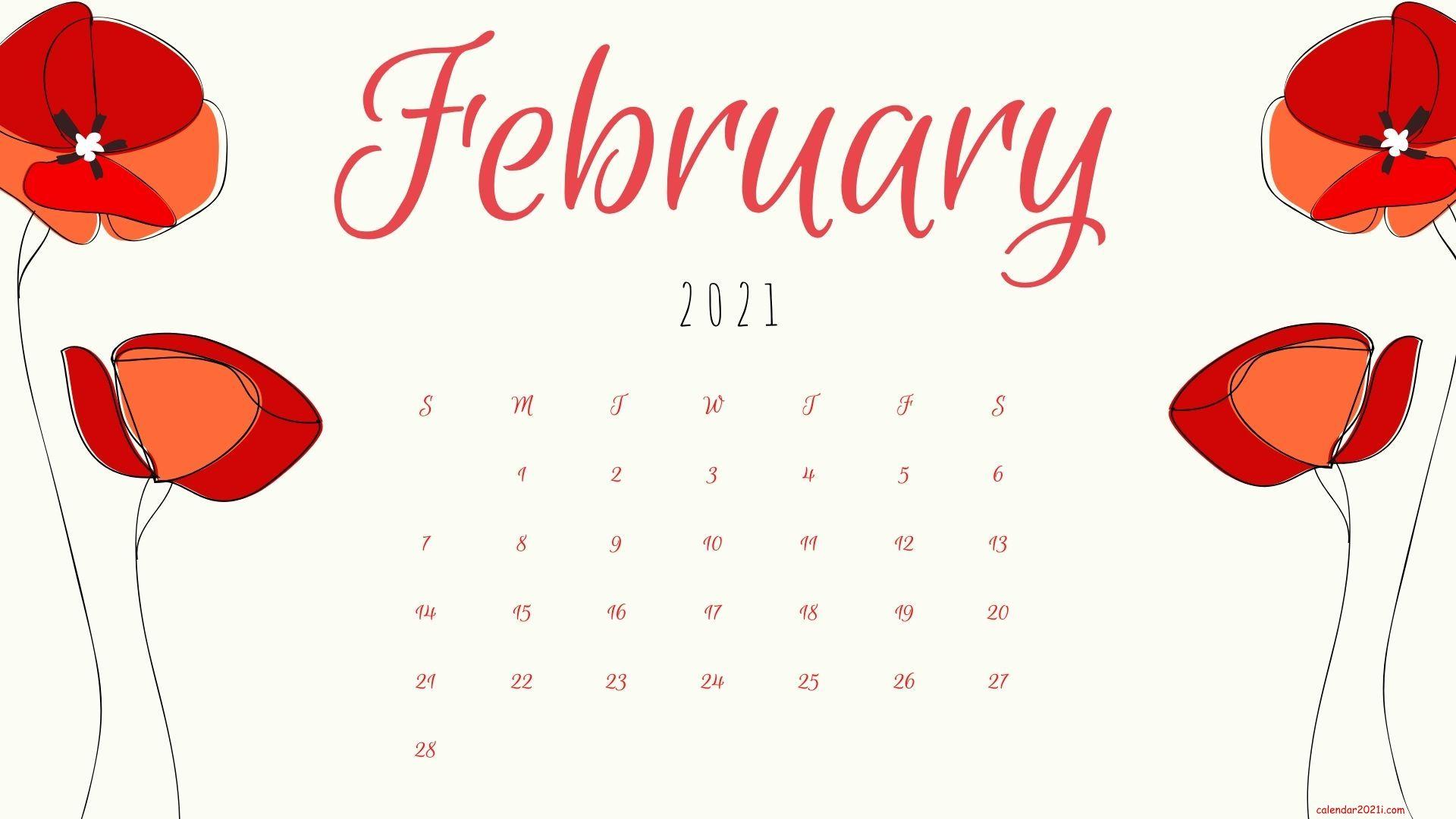 February 2021 Calendar Wallpapers Download Calendar 2021 1920x1080