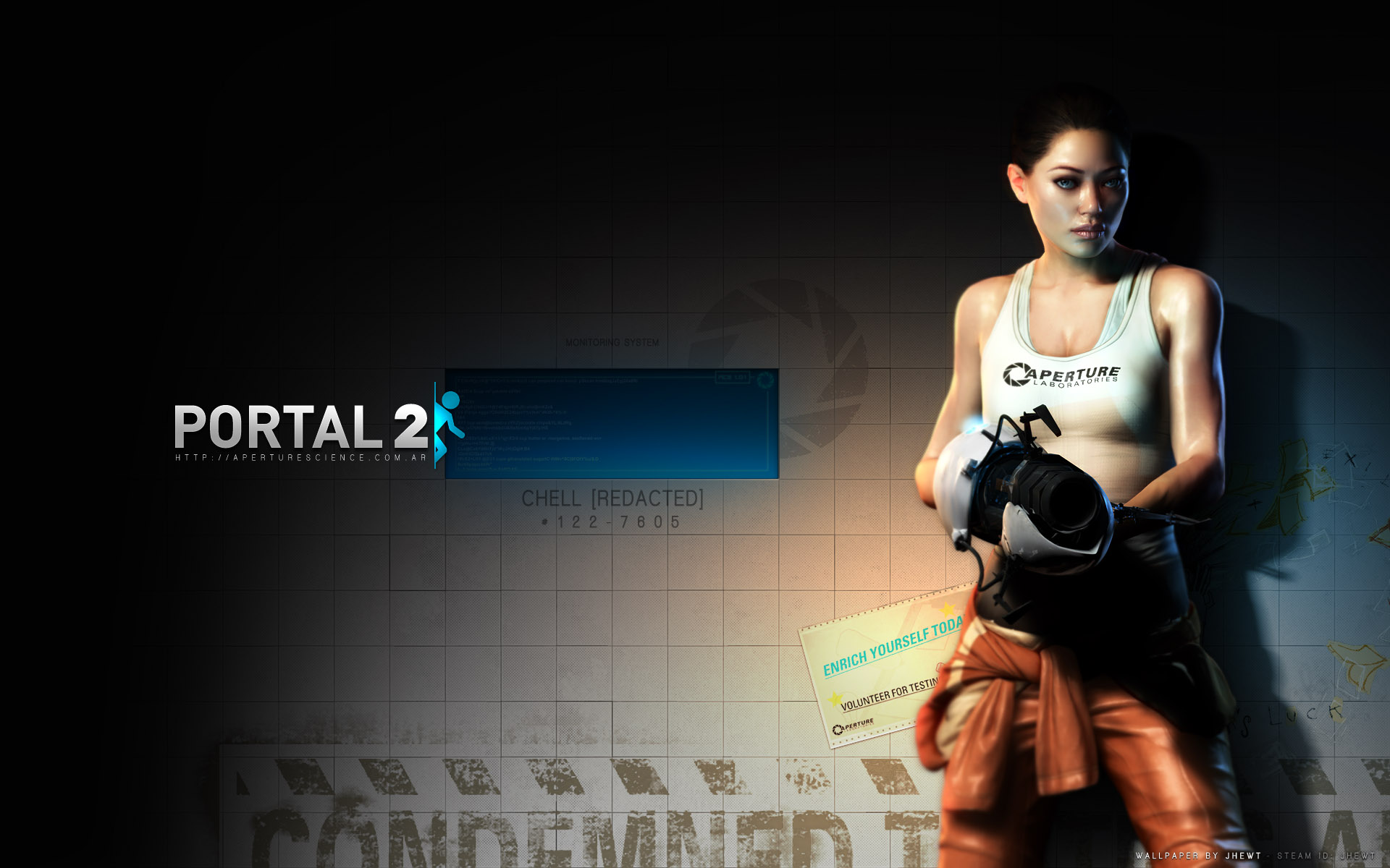 Portal 2 Chell Wallpaper LOLd Wallpaper   Funny Pictures   Funny 1920x1200