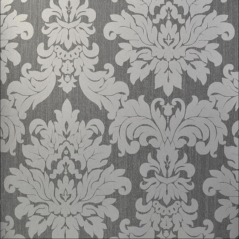 Simple Brocade Wallpaper Grey \x3cb\x3ewallpaper damask\x3cb\x3e 800x800