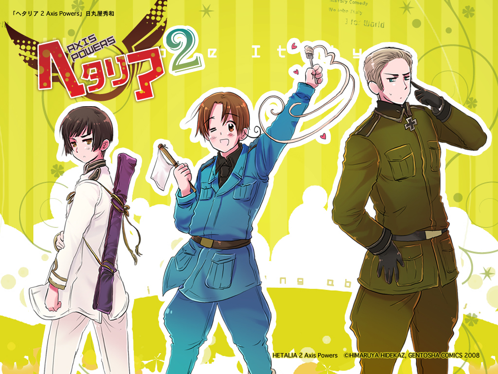 powers hetalia germany italy japan kiku honda wallpaper HQ Wallpaper 1024x768