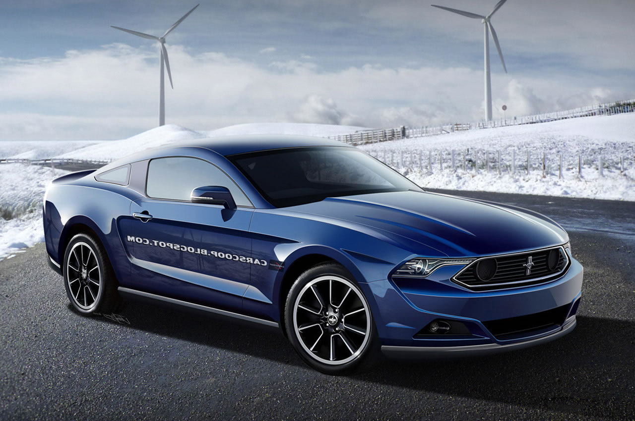 Latest 2015 Mustang rendering is to Retro 2015 ford mustang blue side 1280x850
