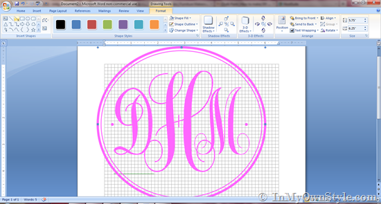 How To Create a Monogram Using Microsoft Word   In My Own Style 550x295