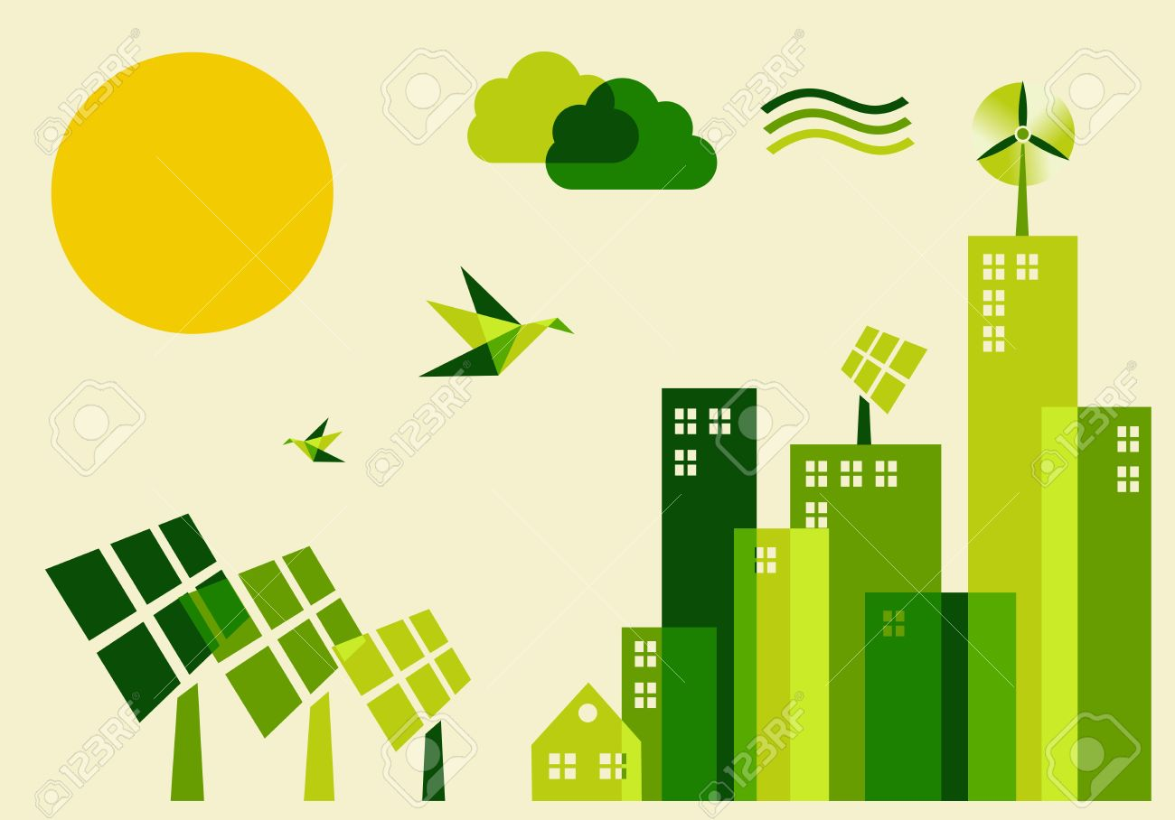 Go Green City Industry Sustainable Development With Environmental 1300x908
