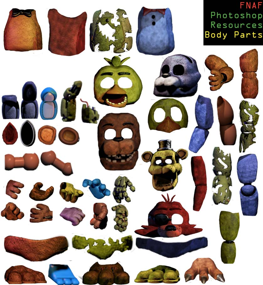 Body Parts resource pack NON PNG VERSION by Dangerdude991 on 839x908