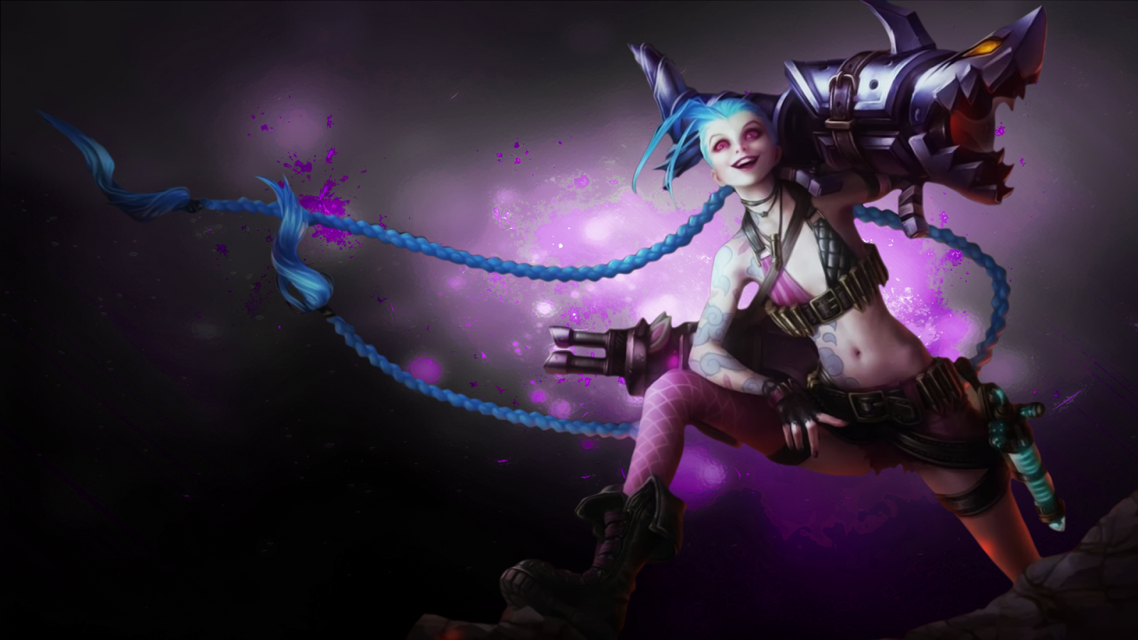 49 League Of Legends Jinx Wallpaper On Wallpapersafari
