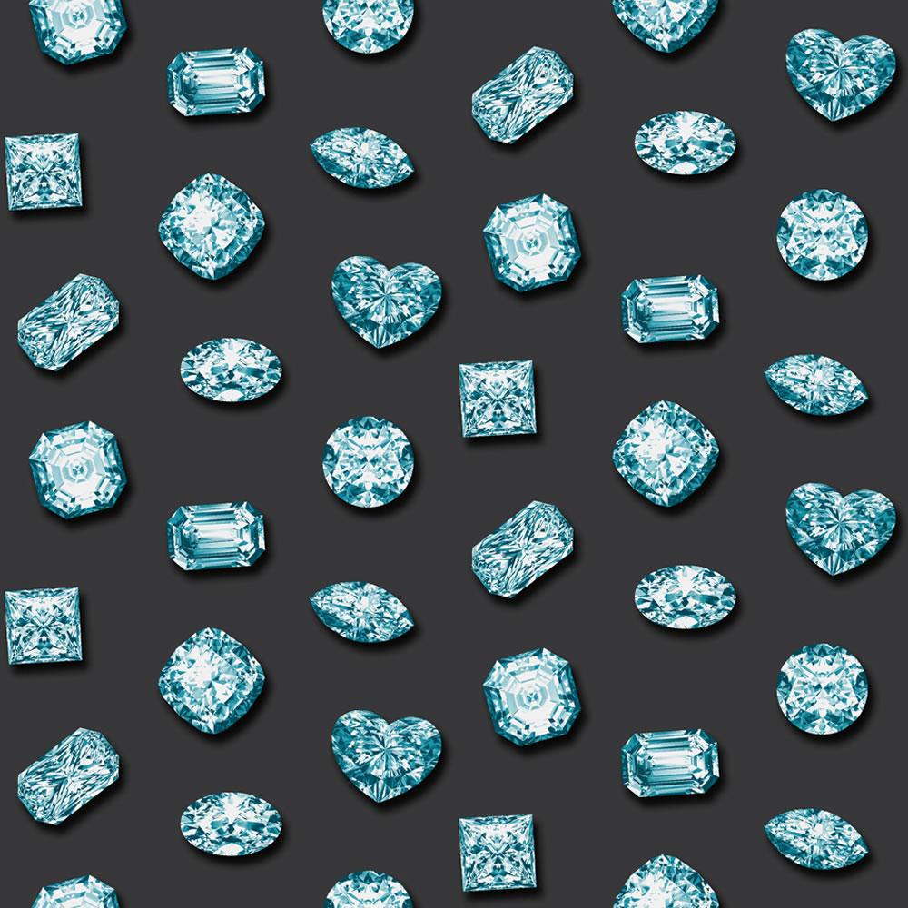 Muriva Diamonds Wallpaper Blue at wilkocom 1000x1000