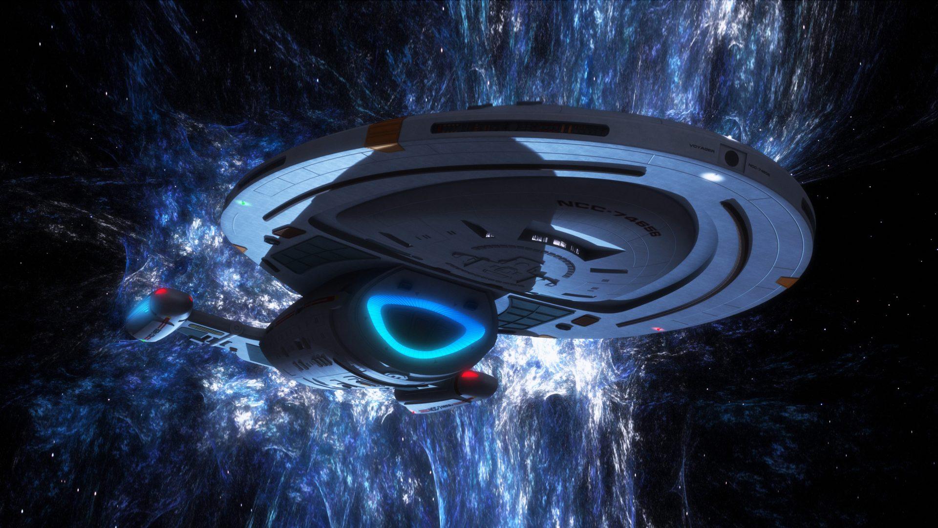 Star Trek Voyager Spaceship Digital Art Hd Wallpapers For 1920x1080