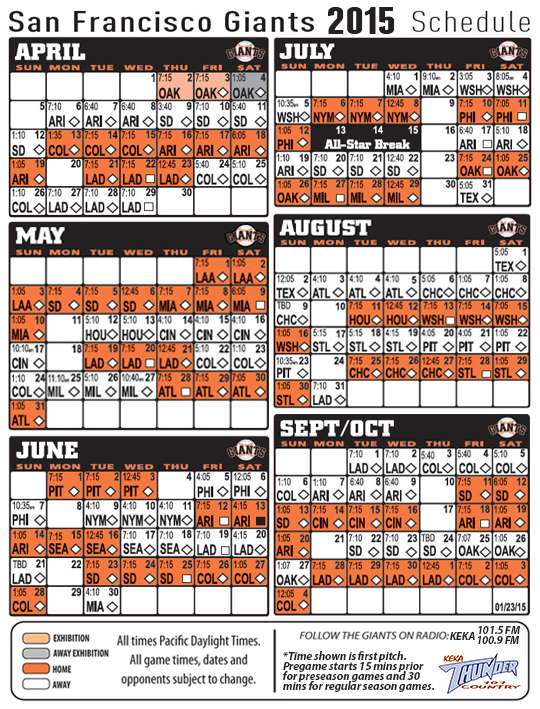 image about Sf Giants Printable Schedule named 50+] Sf Giants 2015 Agenda Wallpaper upon WallpaperSafari