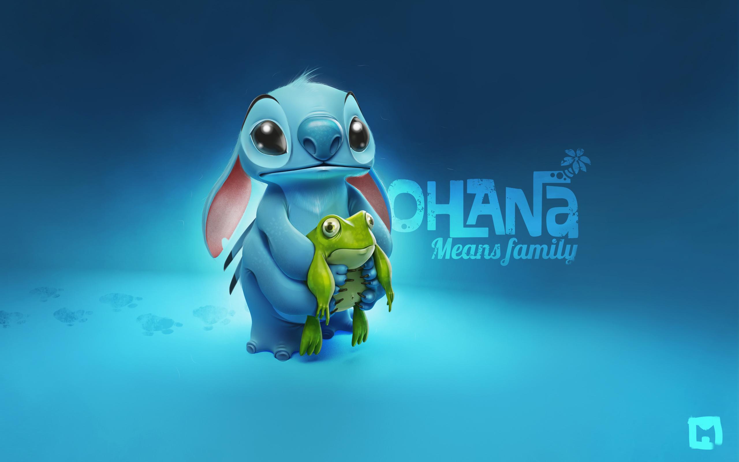 Lilo and Stitch wallpaper cute adorable creature alien Stitch blue 2560x1600