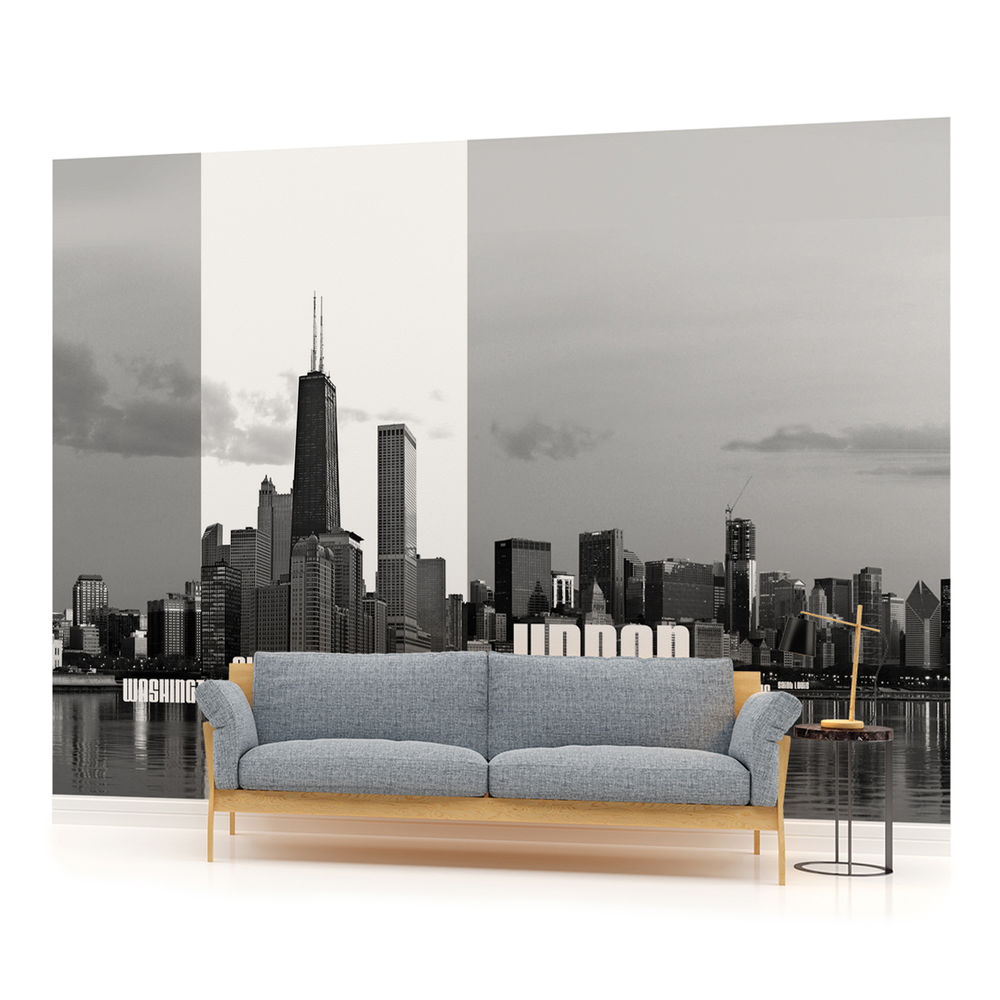 Chicago City Cities Skyline Photo Wallpaper Wall Mural Room 052pp 1000x1000