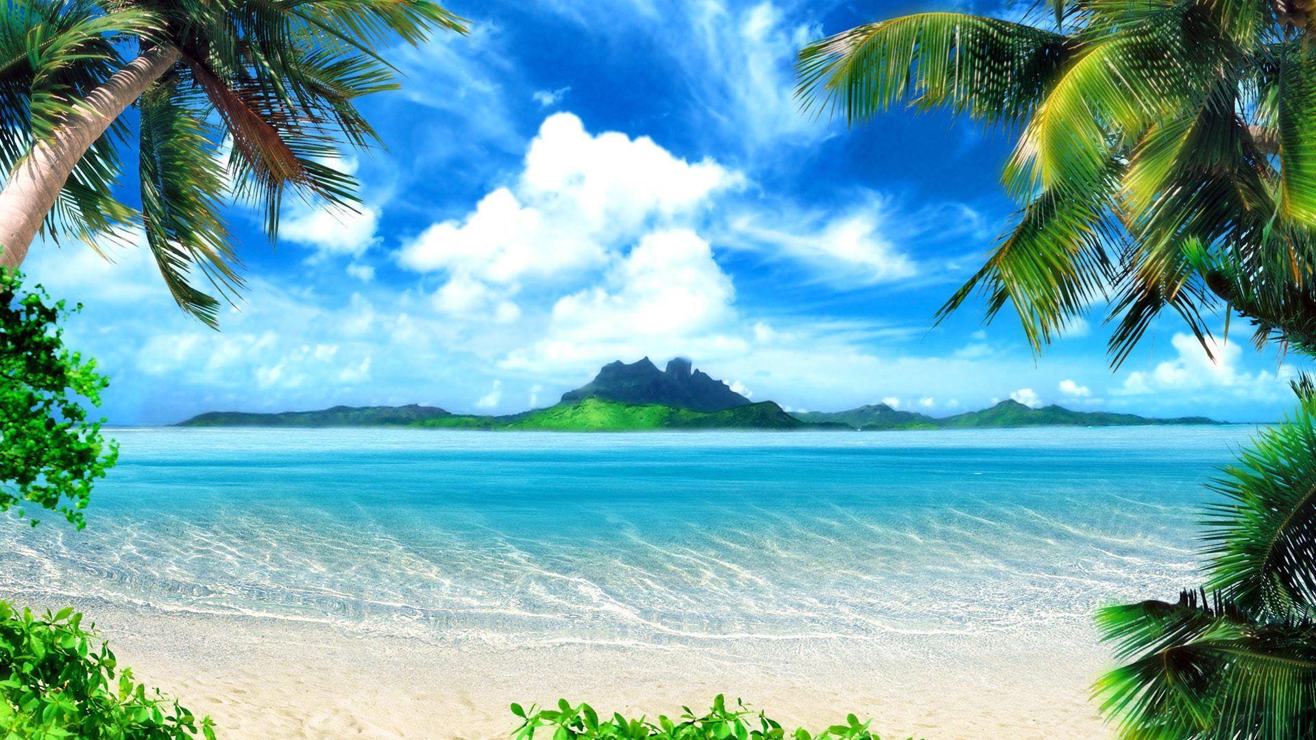 The best beach scenery Wallpapers Beach Pictures and images 1920x1080