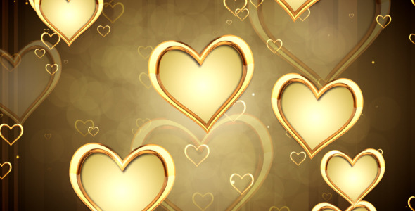 Gold Hearts Wallpaper Wallpapersafari