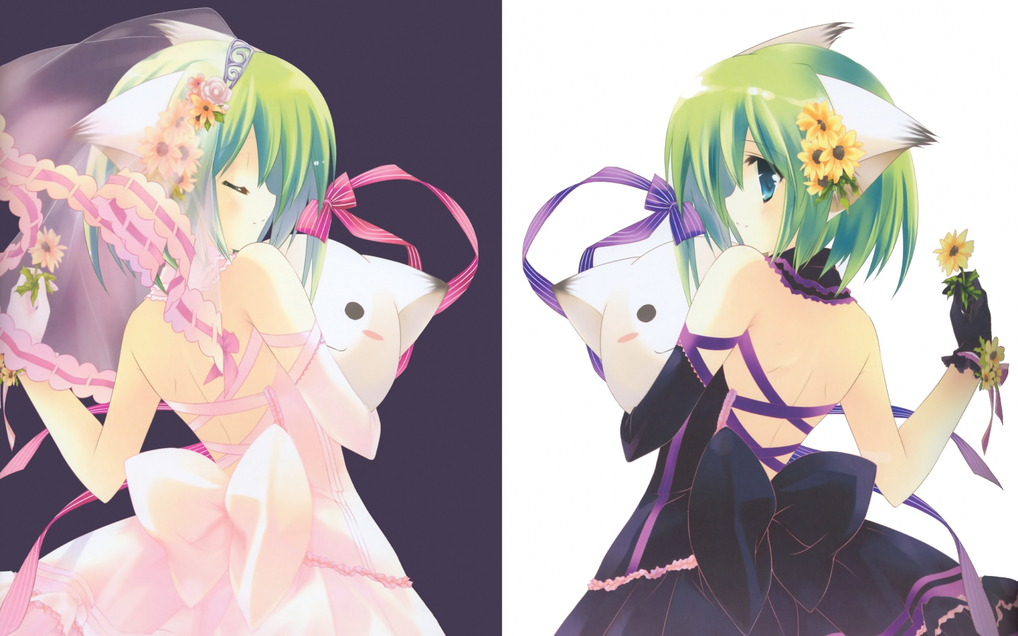 Neko Girl Wallpaper Pack 2 2000x1249