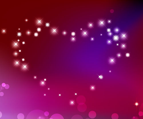 heart love purple sparkles Valentines Day 500x417