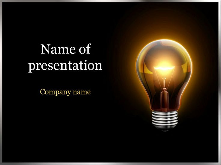 Electric Light PowerPoint Template Android Wallpapers Pinterest 736x552
