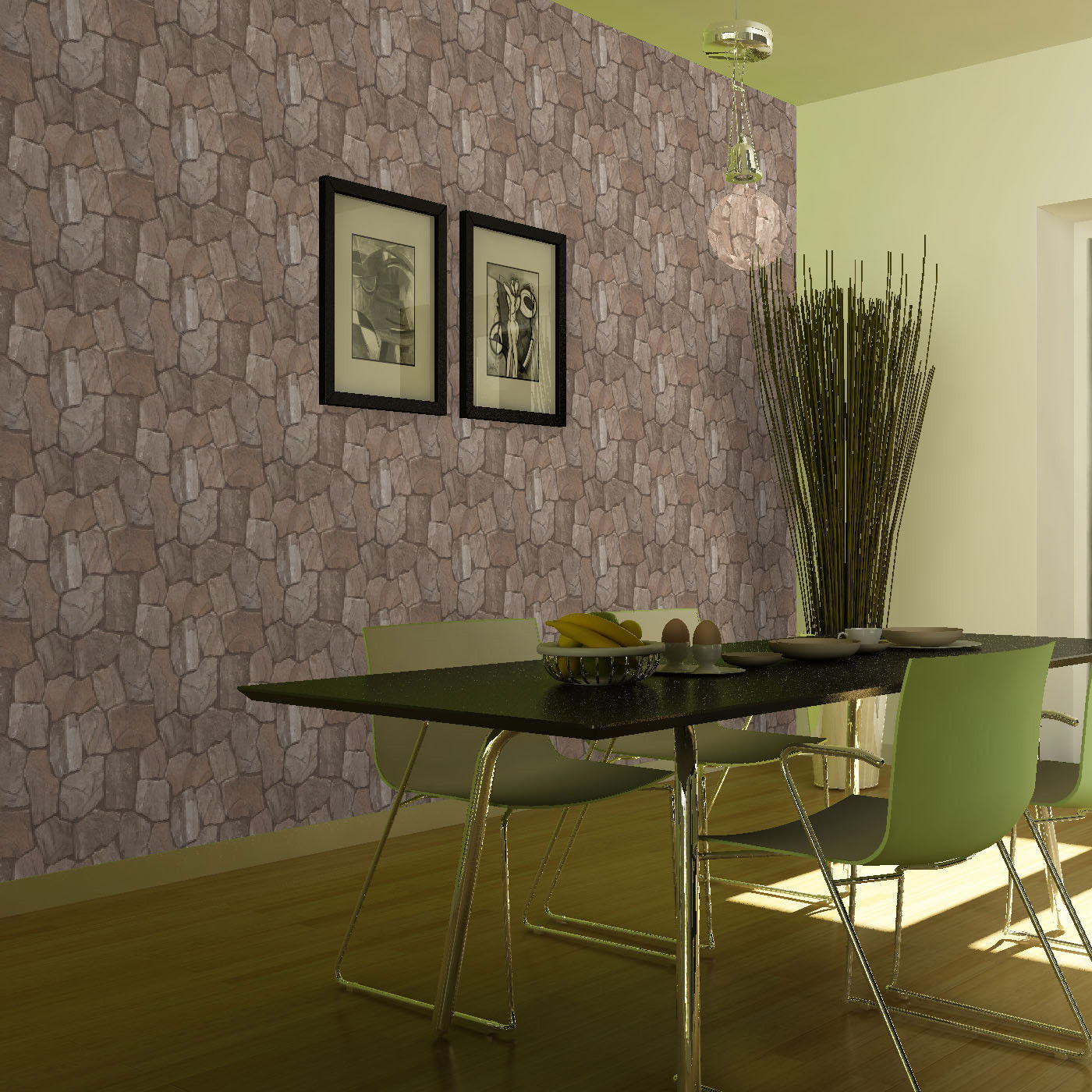 brick wallpaper in kitchen 2015   Grasscloth Wallpaper 1400x1400