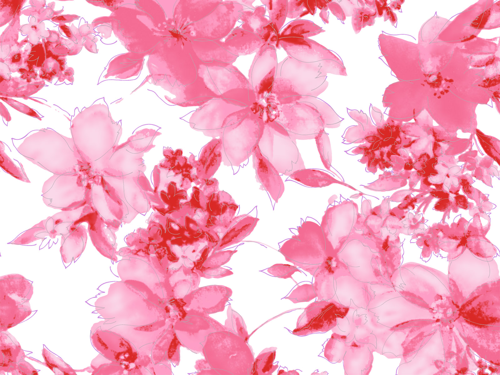 45 Pink Floral Wallpaper On Wallpapersafari