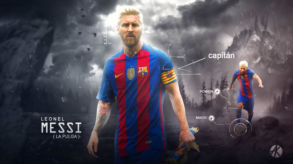 Lionel Messi wallpaper FC Barcelona 201617 by Ghanibvb 1024x576