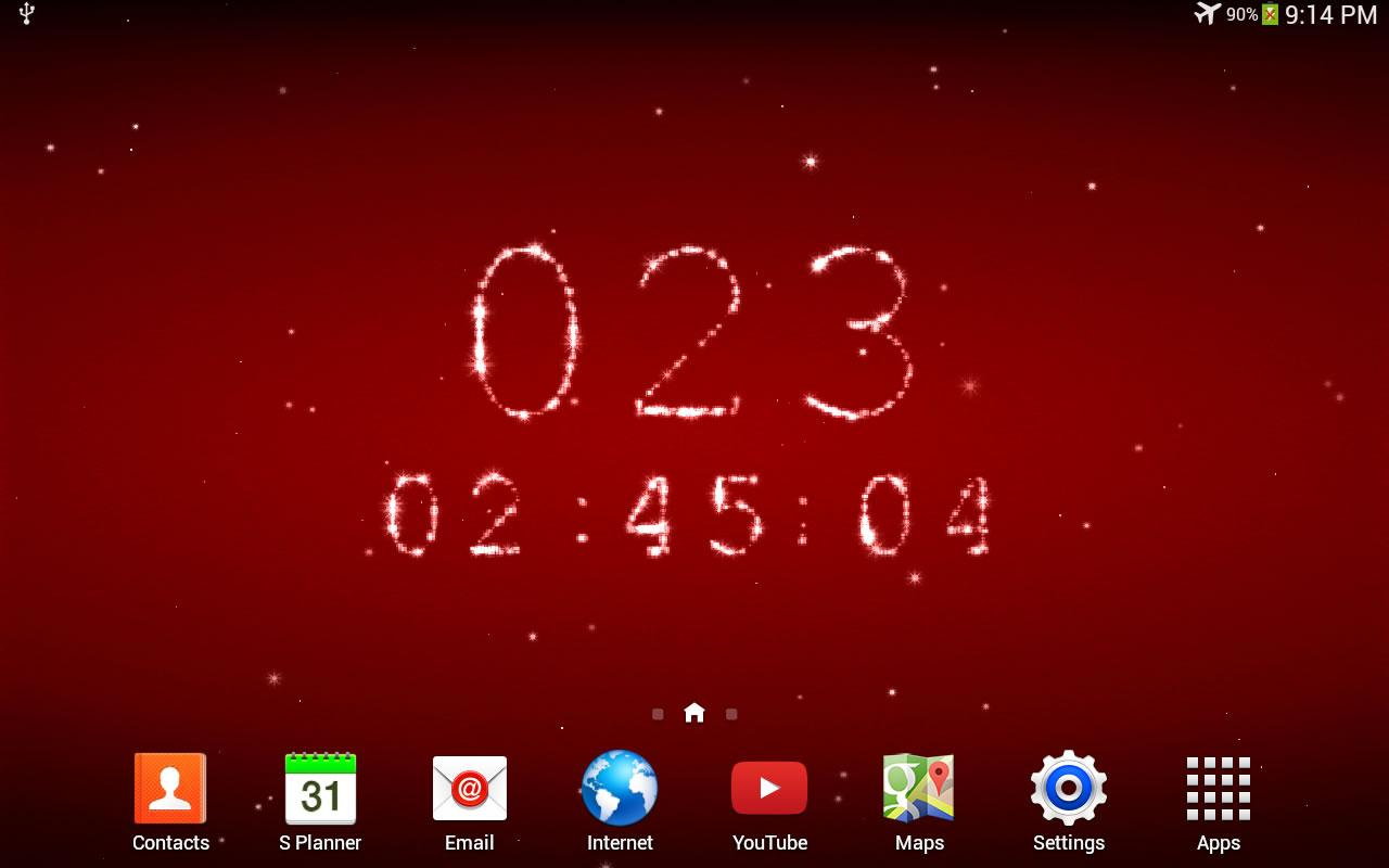 countdown live wallpaper countdowns for your favourite holidays 1280x800