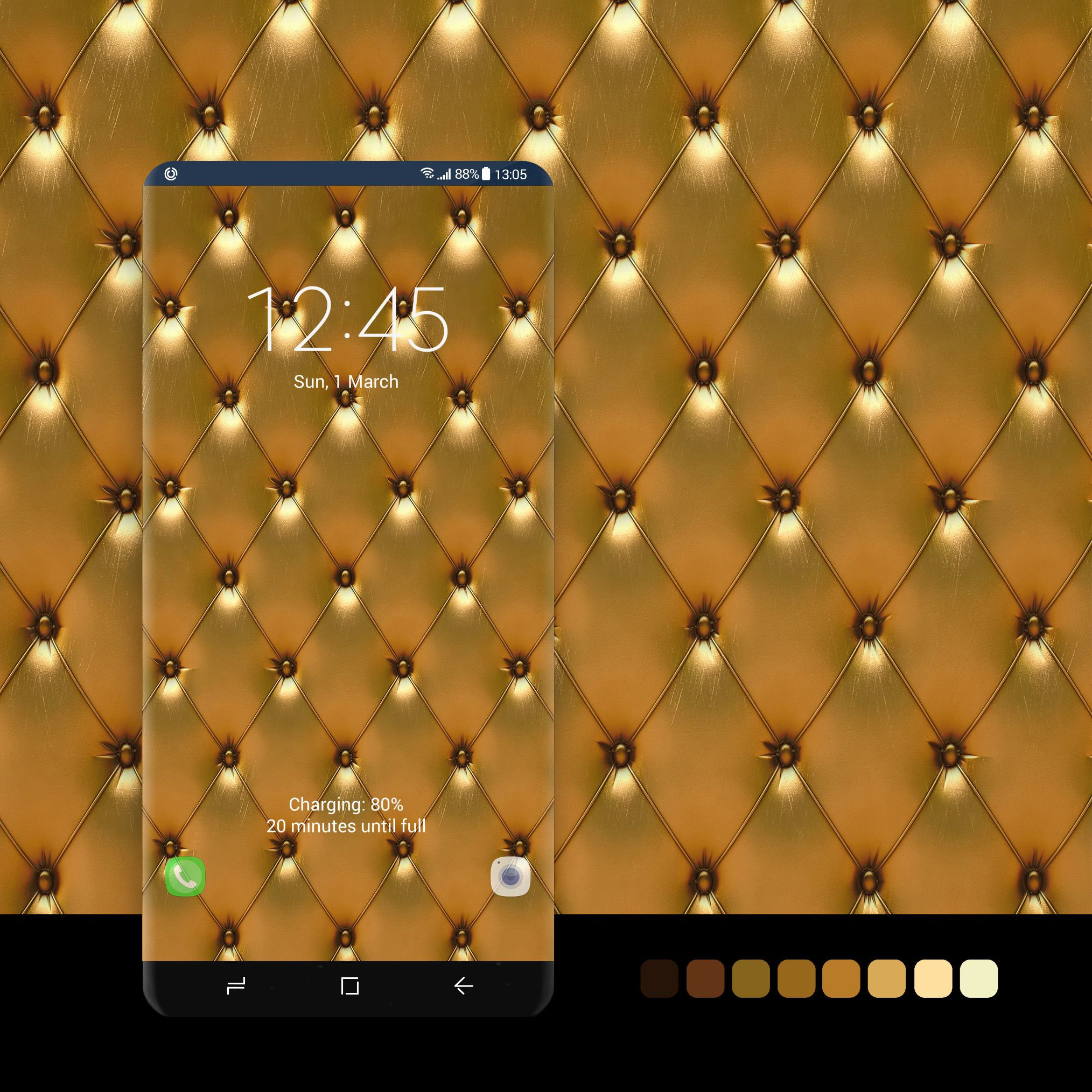 Free download Luxury gold leather