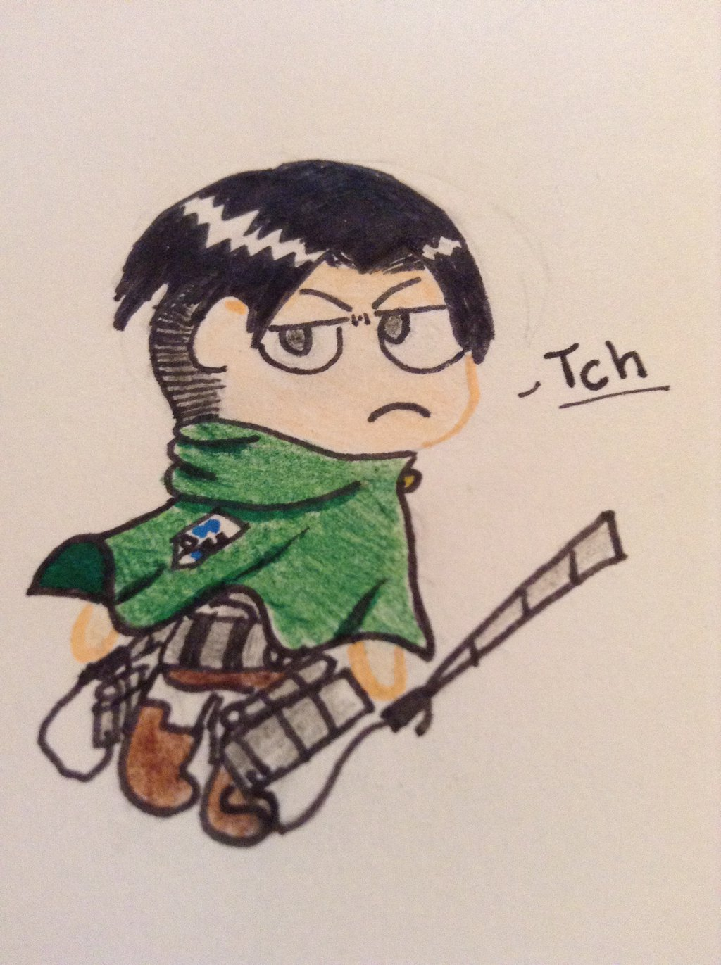 Chibi levi Attack on Titan by Iheartsocks56 1024x1371