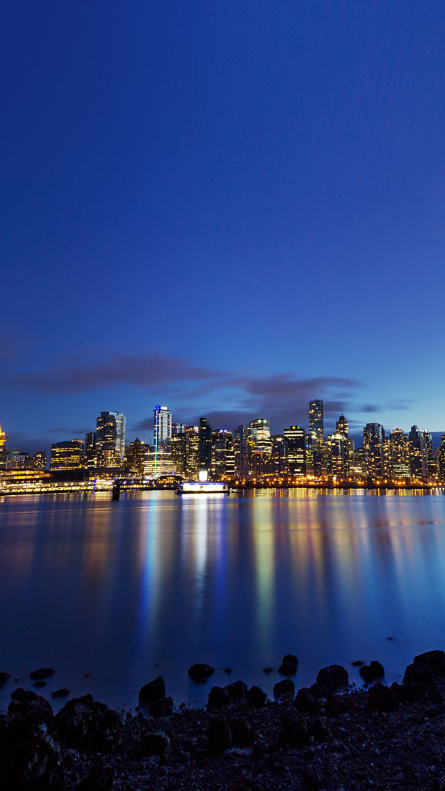 TelephoneWallpaper Vancouver Skyline Wallpaper for iPhone 4 640x1136