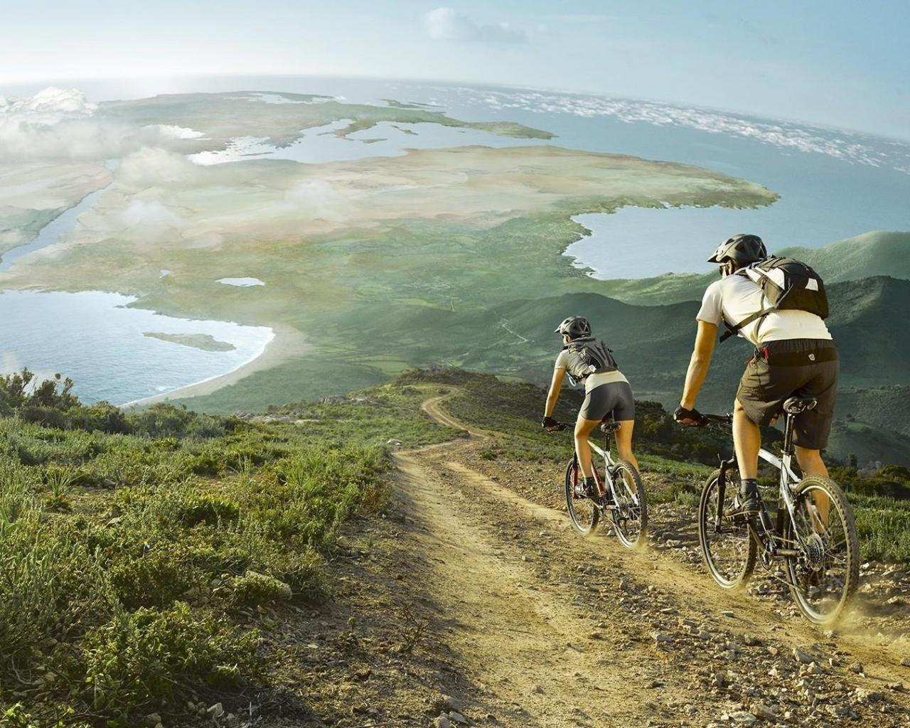 couple Sports Mountain Bike Bicycle HD Wallpapers Desktop Backgrounds 1280x1024
