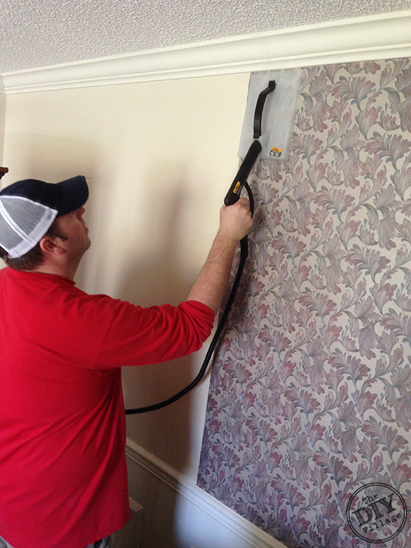 Easy Wallpaper Removal With the HomeRight SteamMachine by the DIY 600x800