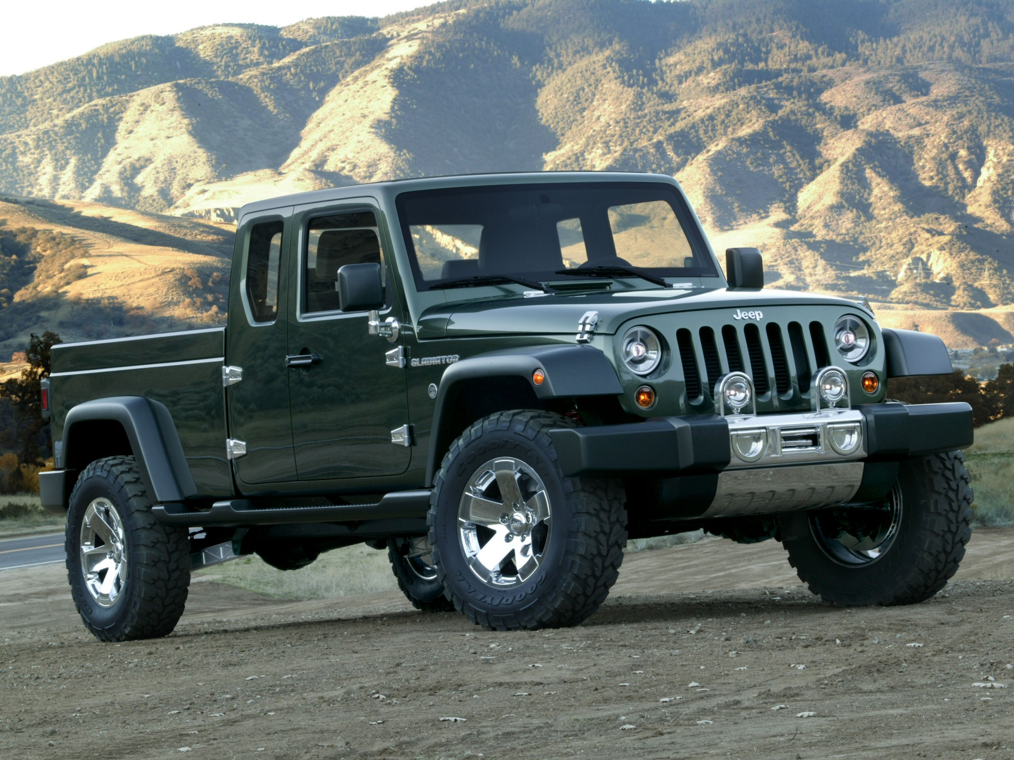 2006 Jeep Gladiator Concept offroad 4x4 truck wallpaper background 2048x1536