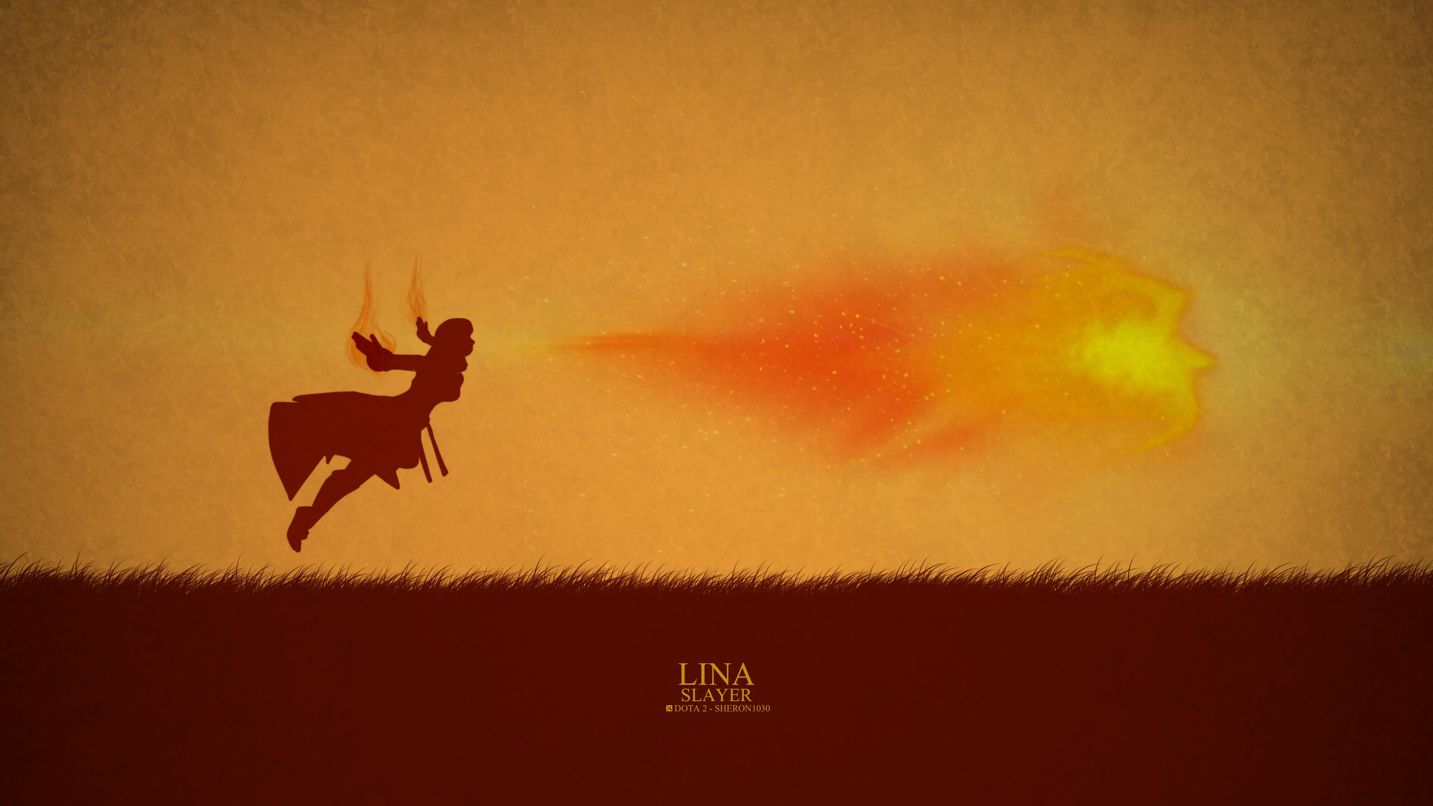 Lina Slayer Minimal Wallpaper Dota 2 HD Wallpapers 5000x2813