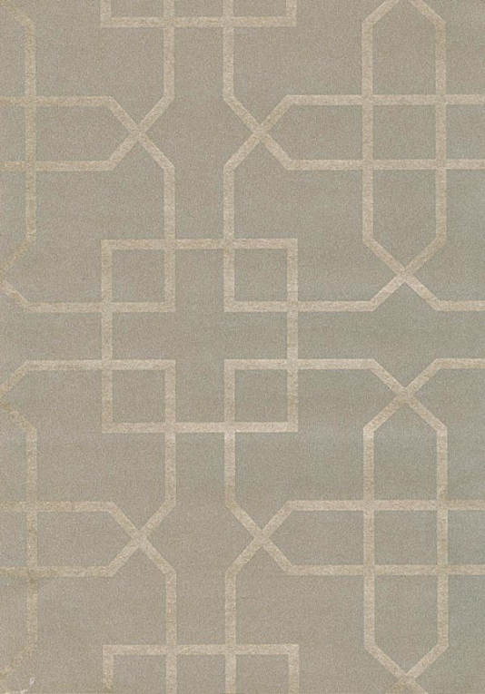 Siam Trellis Wallpaper Grey wallpaper with silver trellis design 534x765