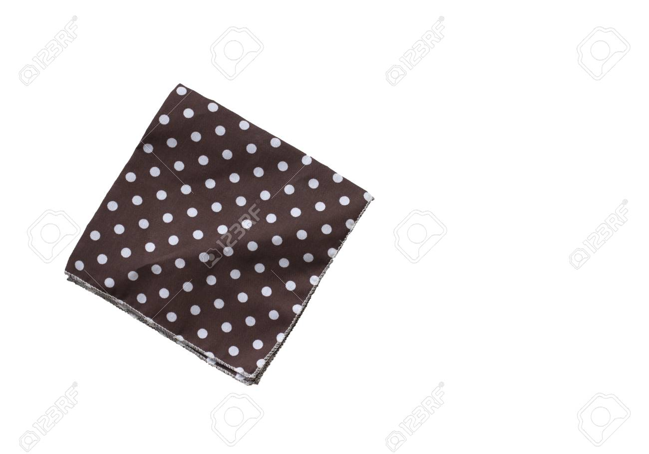 One Handkerchief Isolated On White Background Stock Photo Picture 1300x910
