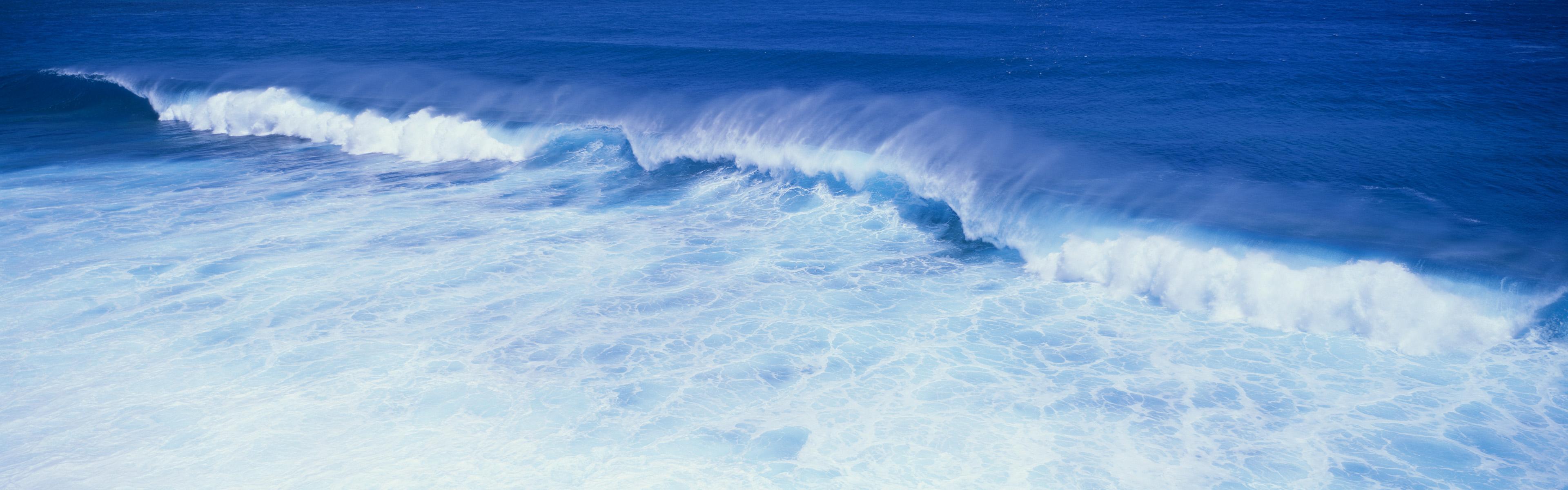 Ocean Wave iPhone Panoramic Wallpaper Download iPad Wallpapers 3840x1200