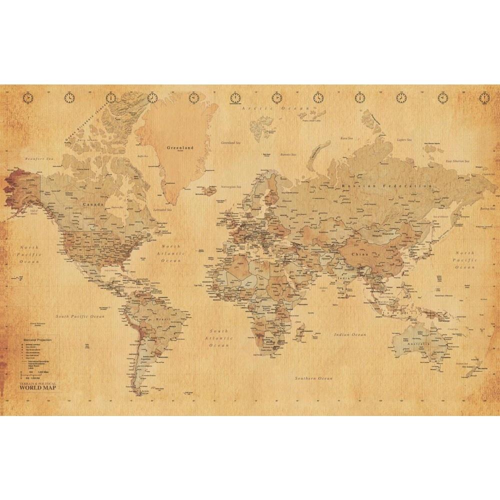 Home Murals 1 Wall 1 Wall Old World Map Atlas Wallpaper 1000x1000