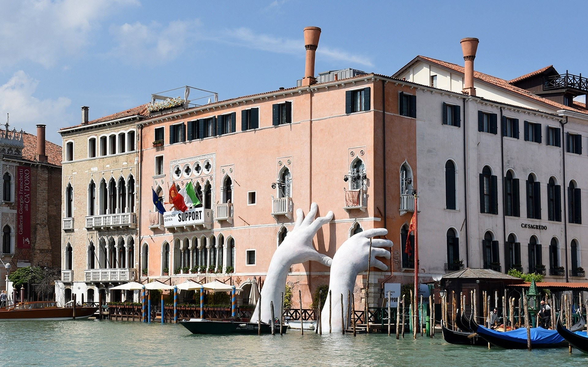 New Lorenzo Quinn Sculpture in Venice Highlights the Threat of 1920x1200