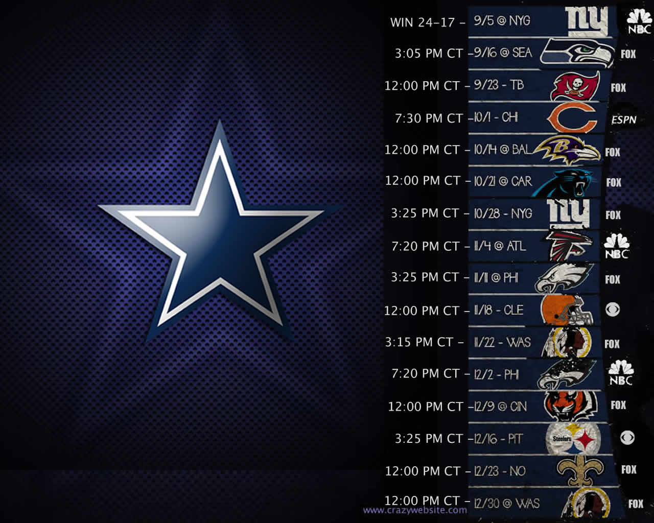 Wallpaper 2012 Schedule Dallas Cowboys 1280x1024jpg 1280x1024