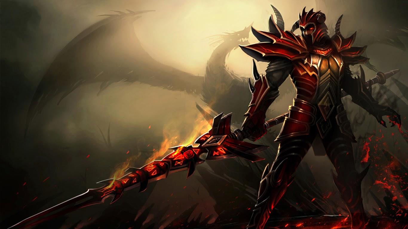 jarvan dragon slayer league of legends champion lol game wallpaper 1366x768