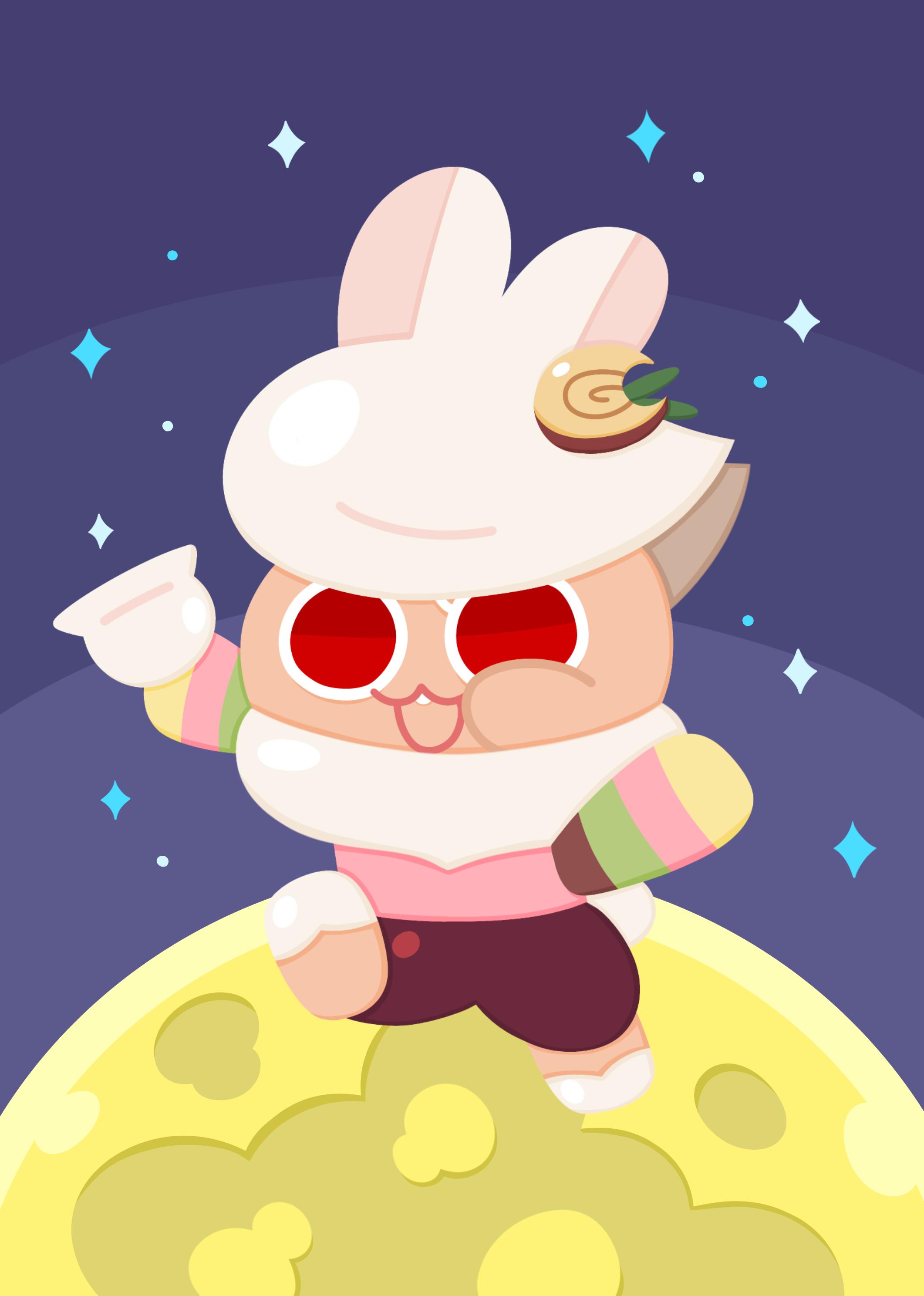 Moon Rabbit Cookie   Cookie Run   Image 2623754   Zerochan Anime 2122x2976