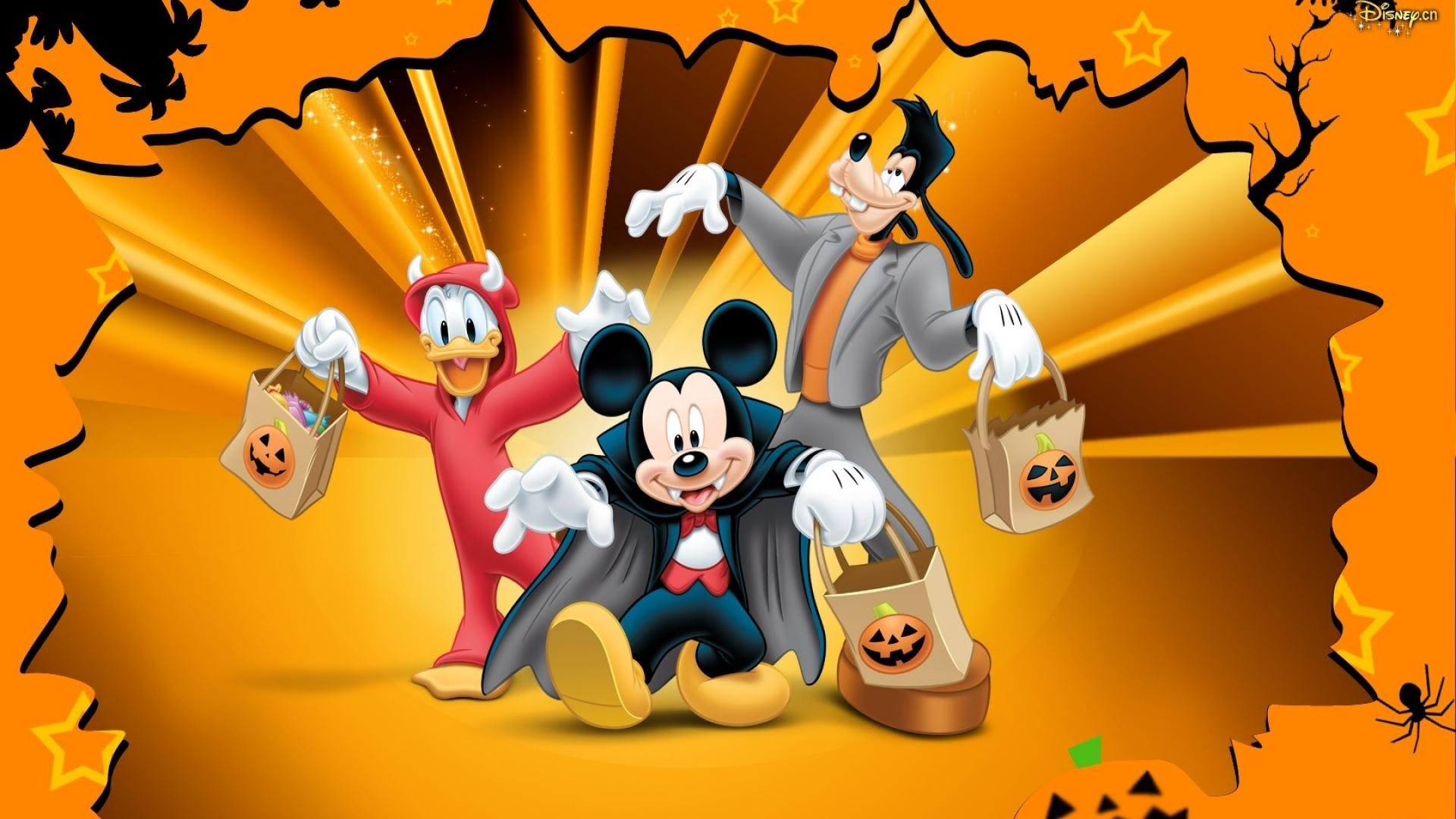 Halloween goofy walt disney mickey mouse donald duck wallpaper 1920x1080