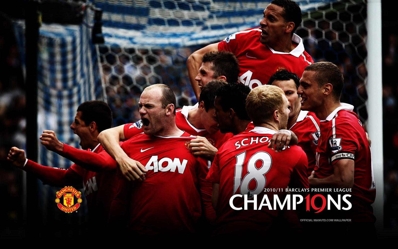 Man Utd Champions 2011 Celebration Wallpaper Man United Malaysia No 1600x1000